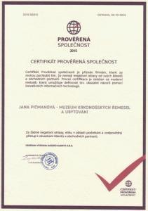 Certifikát prověřená společnost 640x480